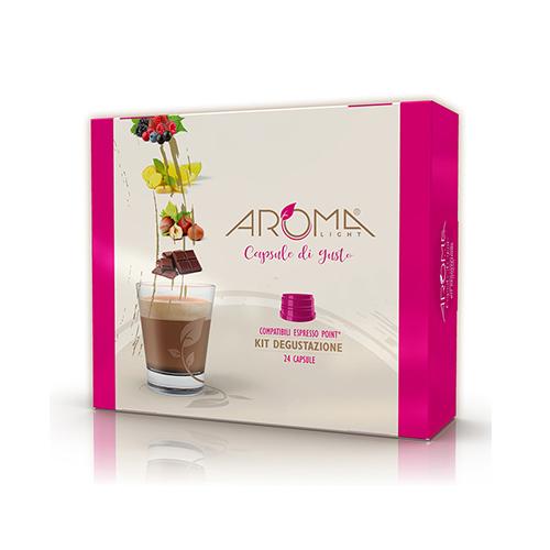 kit degustazione aroma light capsule compatibili espresso point