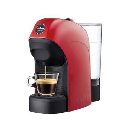 macchina caffè lavazza a modo mio tiny rossa