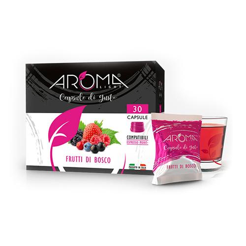 frutti di bosco aroma light capsule compatibili espresso point