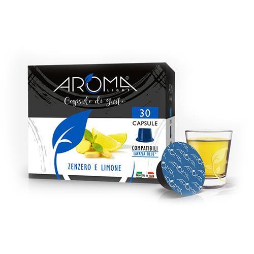 capsule zenzero limone aroma light compatibili lavazza blue