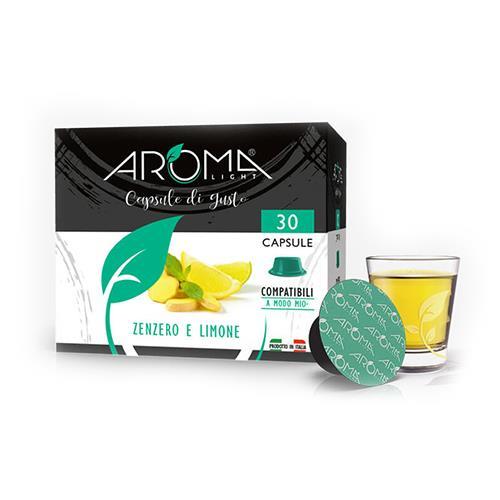 tisane zenzero e limone aroma light capsule compatibili lavazza a modo mio