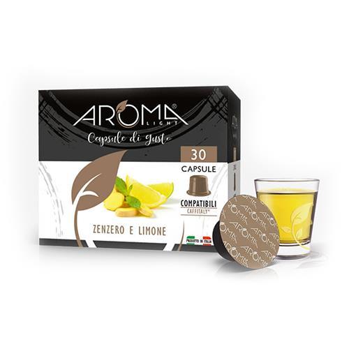 zenzero limone aroma light capsule compatibili caffitaly
